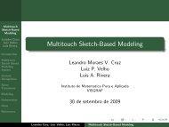 Multitouch Sketch-Based Modeling - Visgraf