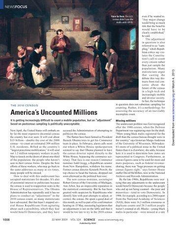 America's Uncounted Millions - Fudan University
