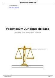Vademecum Juridique de base - SNORL