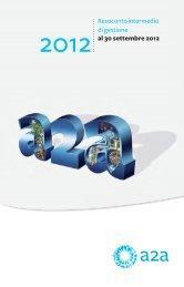 Resoconto intermedio di gestione al 30 settembre 2012 - A2A