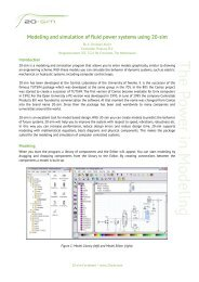 Modeling and simulation of fluid power systems with 20-sim