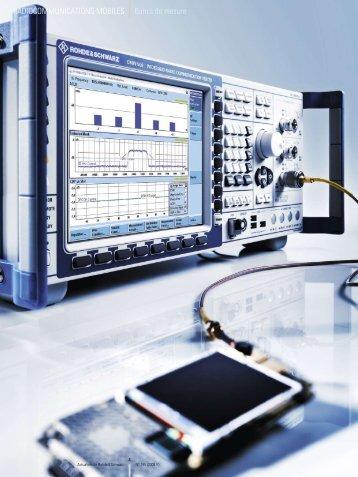 RADIOCOMMUNICATIONS MOBILES Bancs de ... - Rohde & Schwarz