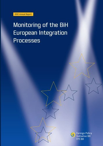 Monitoring of the BiH European Integration Processes