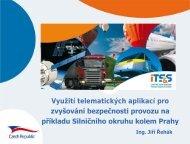 Využití telematických aplikací pro zvyšování bezpečnosti provozu na ...