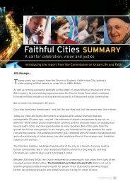 Faithful Cities - Summary - The Church of England