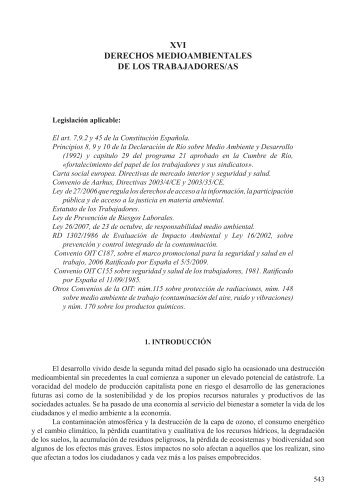 xvi derechos medioambientales de los trabajadores/as - In-formación