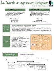 La féverole en agriculture biologique - Chambre régionale d ...