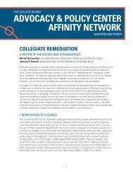 Collegiate Remediation - College Board Advocacy & Policy Center