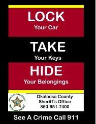 Lock, Take, Hide - Okaloosa County Sheriff's Office
