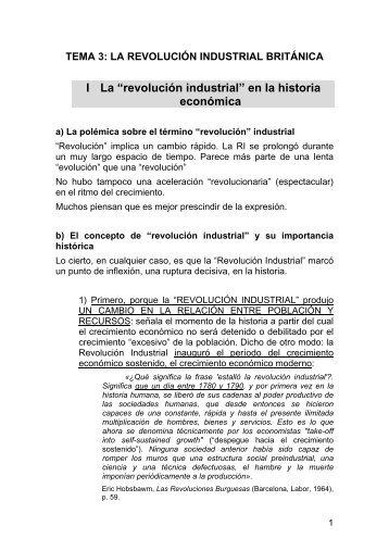 Tema 3: La revolucin industrial britnica - FCJS