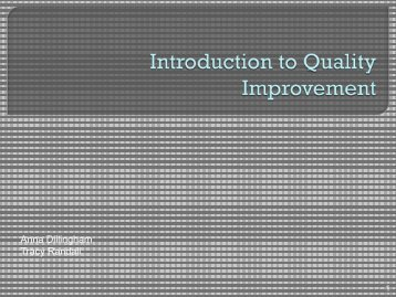 Introduction to Quality Improvement - Ualhd.org