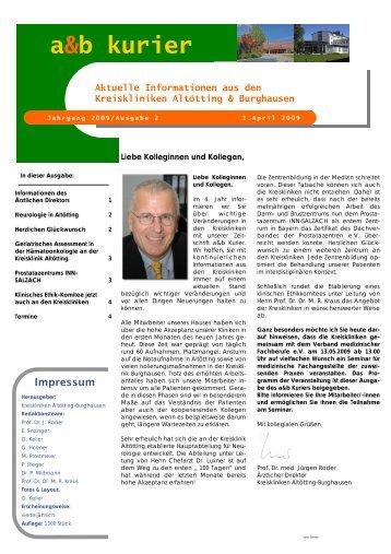 a&b kurier 2-2009 - Kreiskrankenhaus Alt/Neuötting