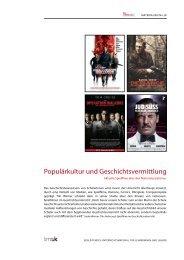 Populärkultur und Geschichtsvermittlung – Aktuelle ... - filmABC