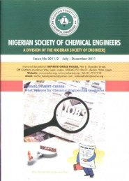 NIGERIAN SOCIETY OF CHEMICAL ENGINEERS - NSChE