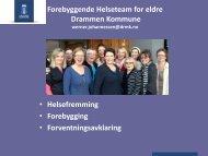 Forebygging - Drammen kommune
