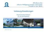 Essstörungen - Klinik für Psychiatrie, Psychosomatik und ...