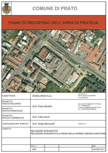 1. la prima fase - Atti amministrativi del Comune di Prato