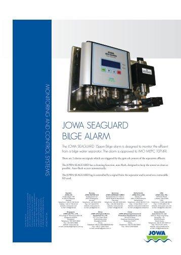JOWA SEAGUARD BILGE ALARM - Marine Plant Systems
