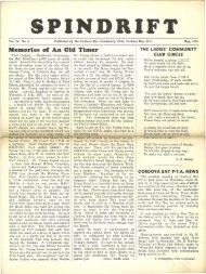 spindrift may 1951 - Cordova Bay Association for Community Affairs