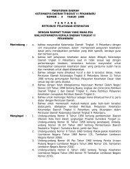 PERATURAN DAERAH - Pemerintah Kota Pekanbaru
