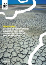 Water for life: Lessons for climate change adaptation from ... - WWF