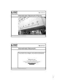 Internationales Steuerrecht (Theorie ... - taxadvisors.ch