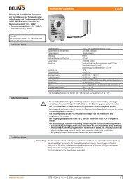 Technisches Datenblatt HT230 - Belimo