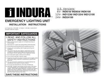 Small Indura Unit - 6V, 12V, 24V - Lithonia Lighting