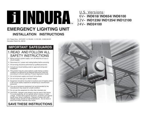 IND1254-SEL LITHONIA EMERGENCY LIGHTING UNIT