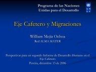 Migración Eje Cafetero - Programa de las Naciones Unidas para el ...