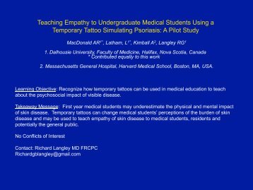 Teaching Empathy to Undergraduate Medical Students Using a ...