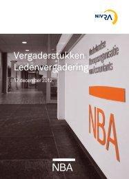 NIVRA vergaderstukken 17 december 2012 - NBA