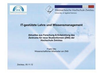 Aktuelles aus Forschung und Entwicklung am ZNS - Frank Otto (PDF)
