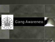 Gang Awareness Presentation - Salt Lake City