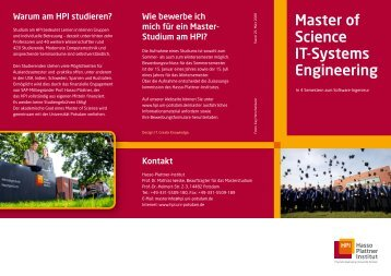 Master of Science IT-Systems Engineering - Business Process ...