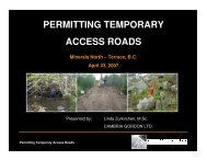 PERMITTING TEMPORARY ACCESS ROADS - Minerals North