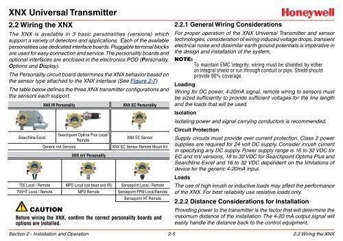 XNX Xnx Transmitter Wiring on