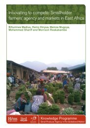 Smallholder farmers' agency and markets in East Africa - IIED pubs