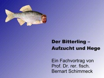 Der Bitterling – Aufzucht und Hege Ein Fachvortrag von Prof. Dr. rer ...