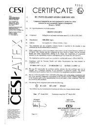 CESI 03 ATEX 059U - Cortem Group
