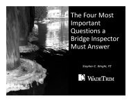 The Four Most Important Questions a Bridge Inspector Must Answer