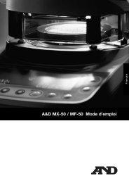 A&D MX-50 / MF-50 Mode d'emploi