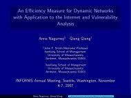 An Efficiency Measure for Dynamic Networks with Application to the ...
