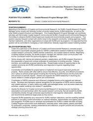 Coastal Research Program Manager - Southeastern Universities ...