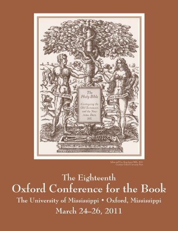2011 Oxford Conference for the Book Program