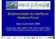 Biodiversidade do Interflúvio Madeira-Purus - Geoma - LNCC