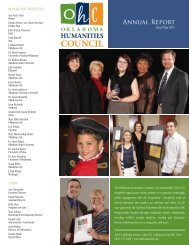 Fiscal Year 2011 - Oklahoma Humanities Council