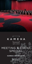 MEETING & EVENT SPECIAL - Kameha Grand Bonn