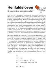 Henfaldsloven - Et argument via terningemodellen - matematikfysik