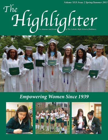 Empowering Women Since 1939 - The Catholic High School of ...